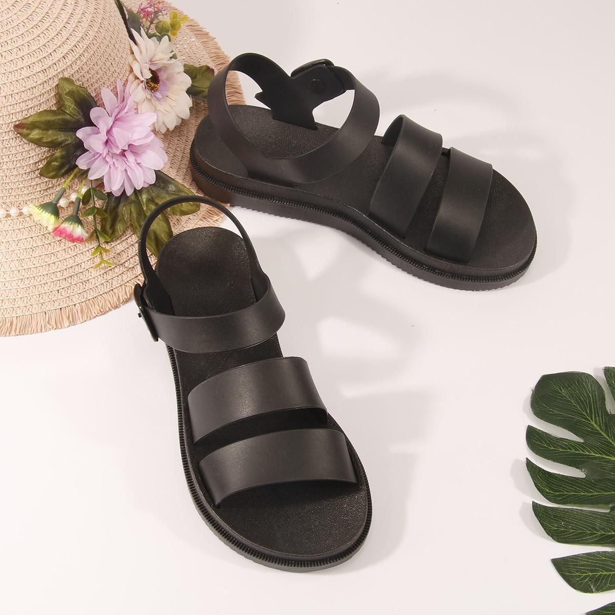 Sandalias Hebilla Liso Zapatos de tiras Guay