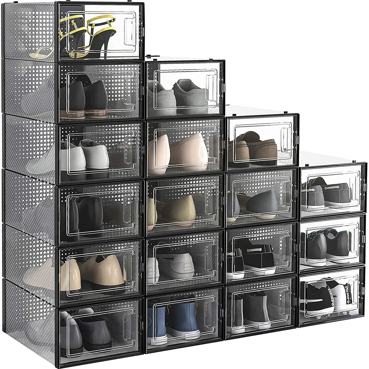 1шт прозрачный ящик для хранения обуви