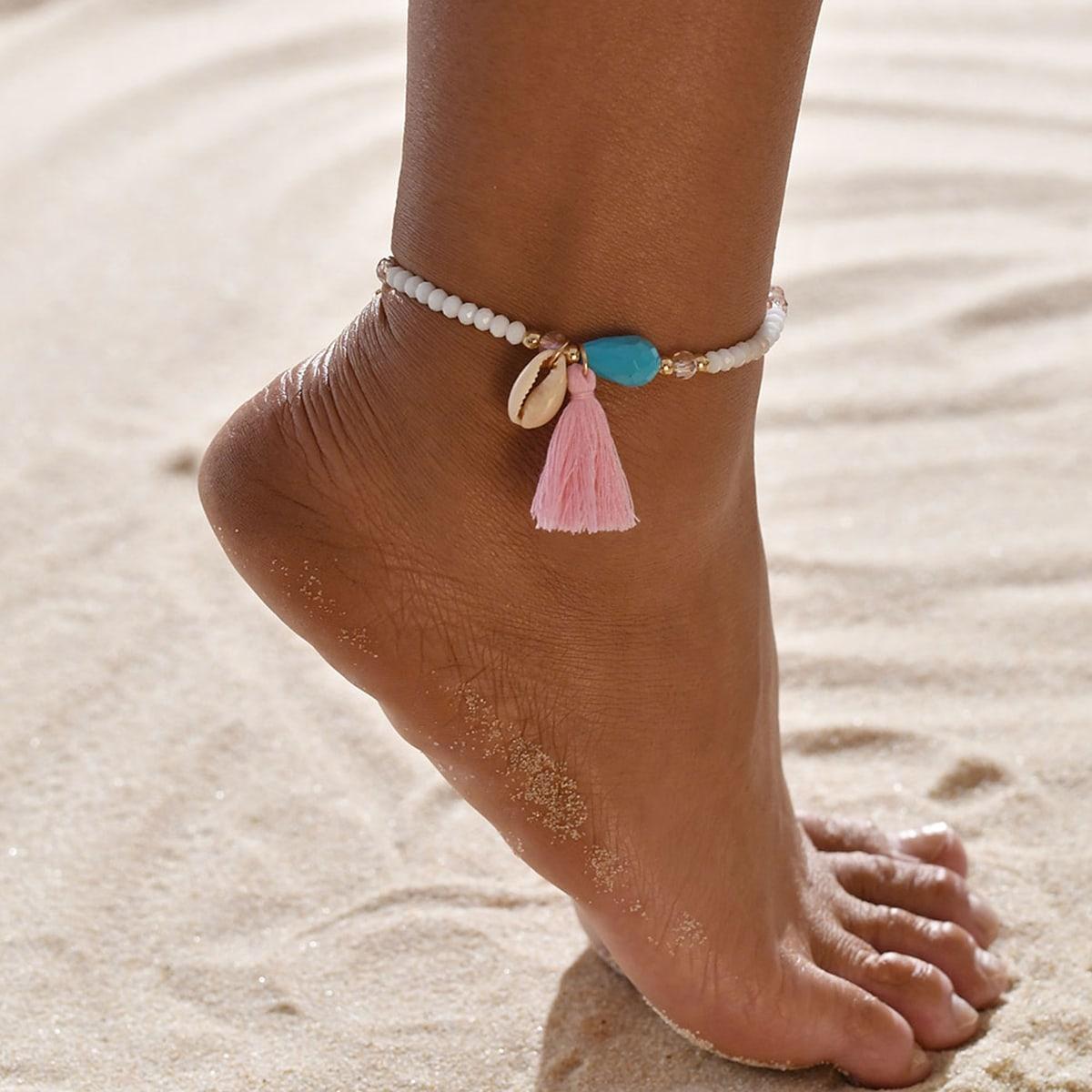 Ножной браслет с бахромой