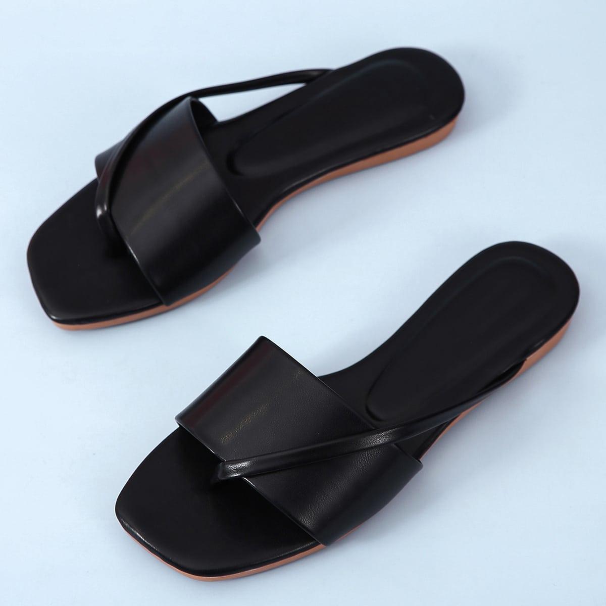 Sandalias con tira planas minimalista