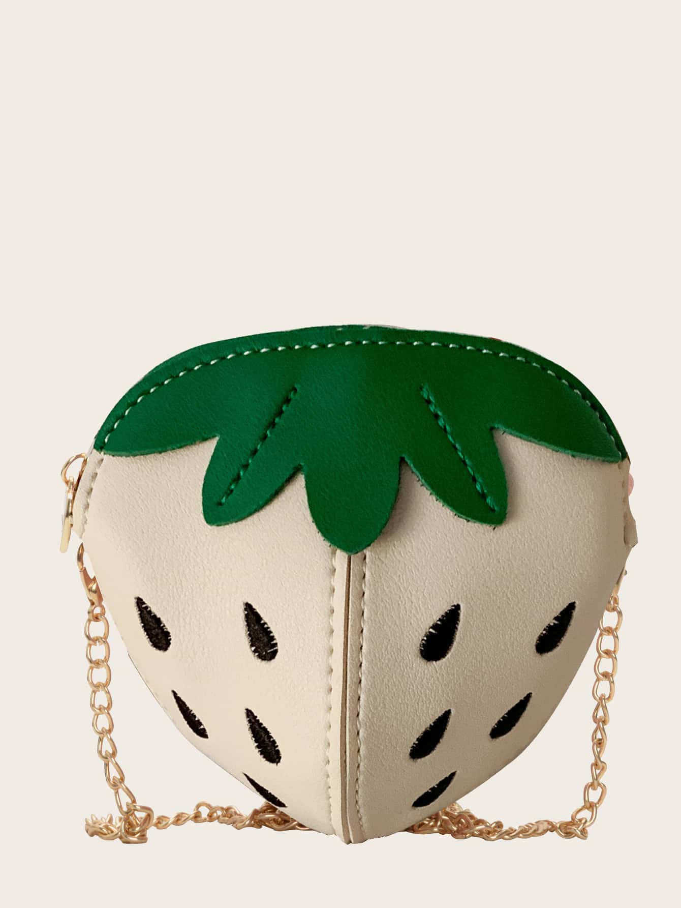 girls strawberry design chain crossbody bag