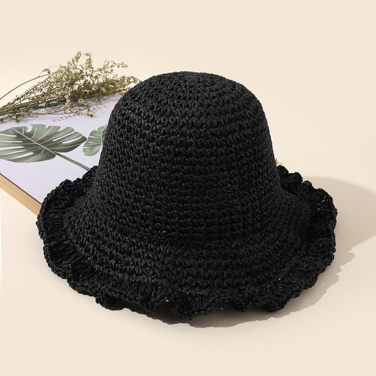 Минималистская соломенная шляпа
