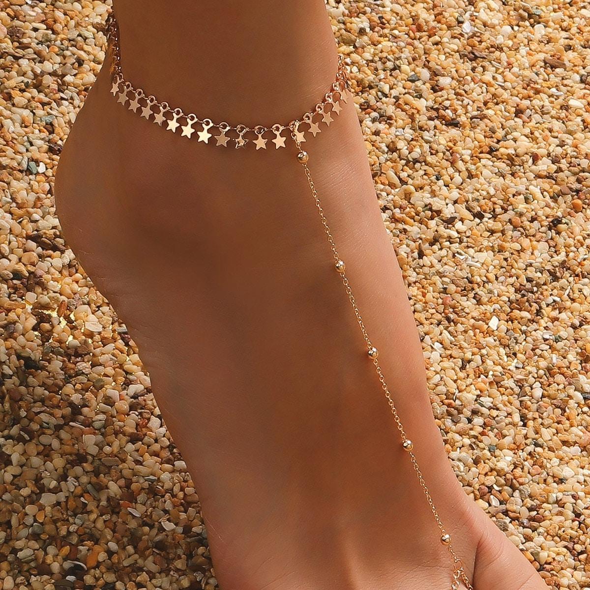 Ножной браслет звезды варежки от SHEIN