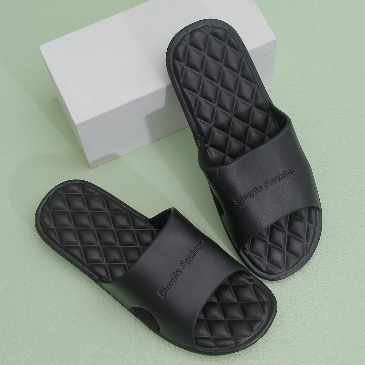 SHEIN Tekst Heren slippers Uitgeknipt