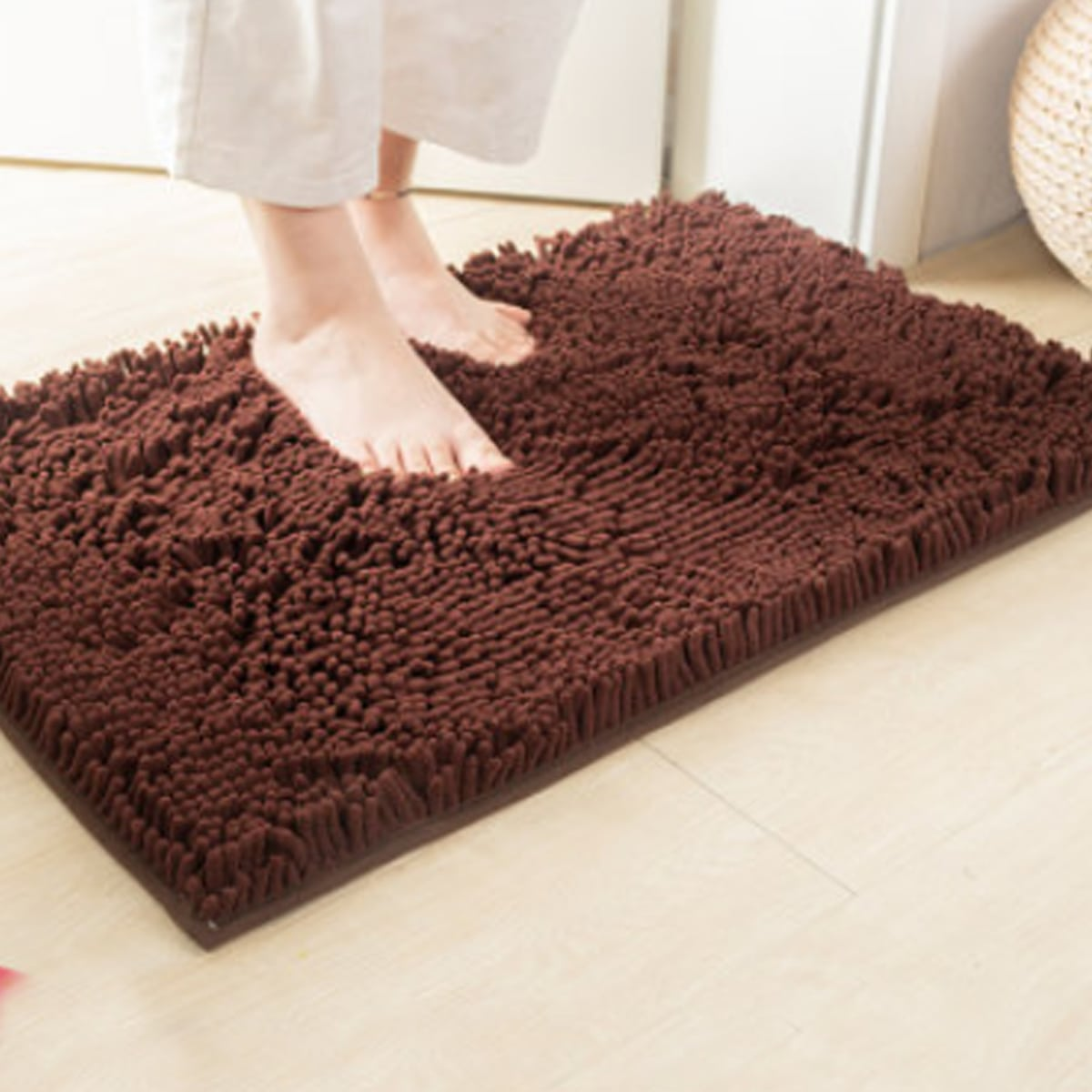 Einfarbige Chenille Bodenmatte