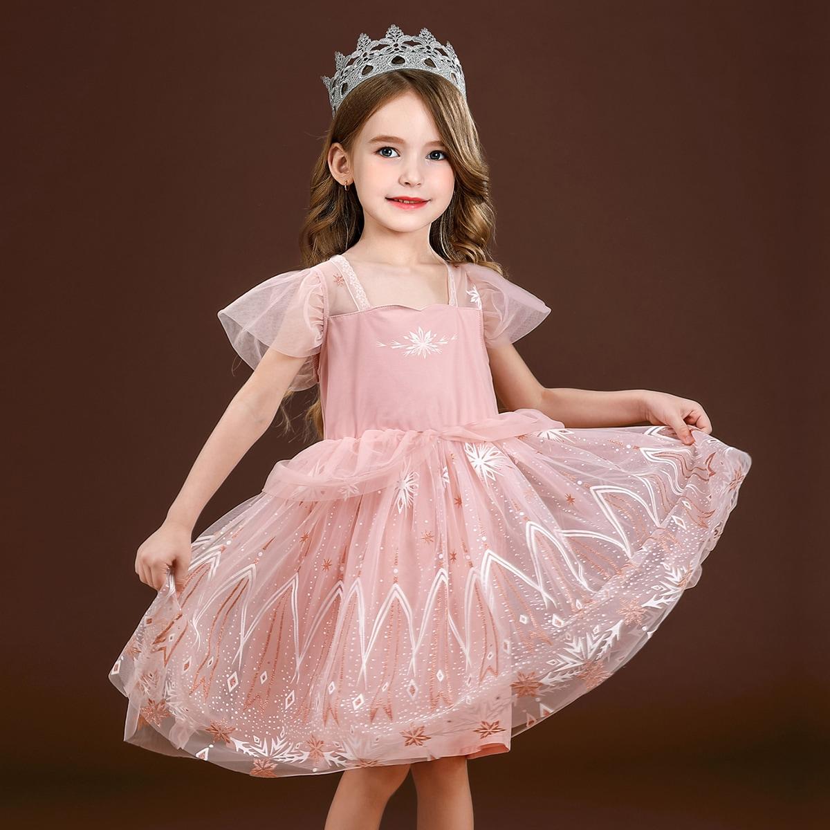Сетчатое платье для девочек