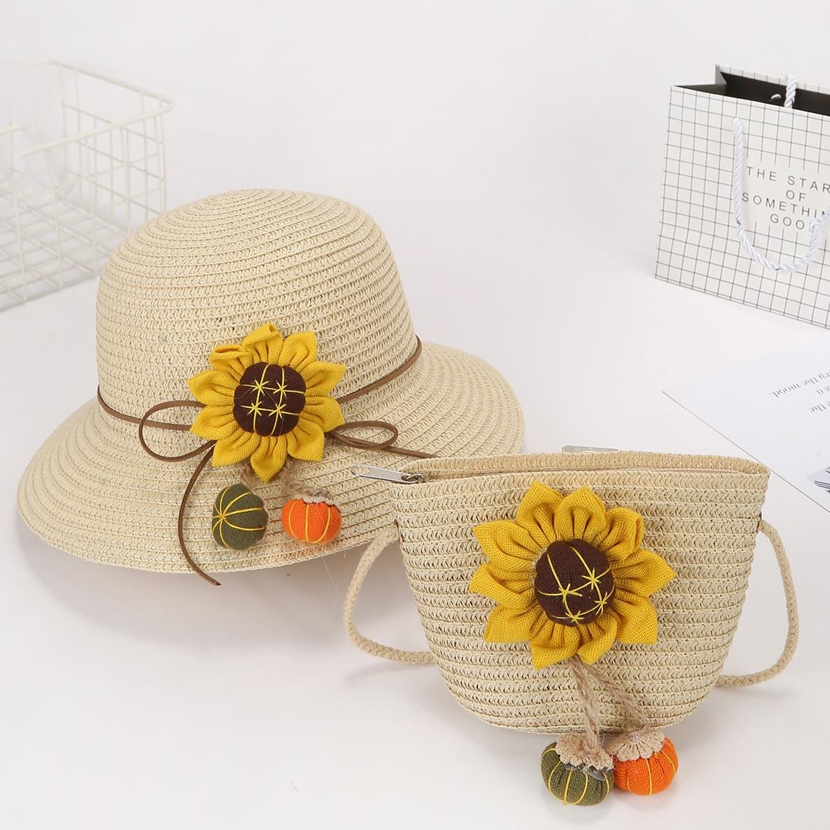 с аппликацией Со цветочками Комплекты детских сумок по цене 740