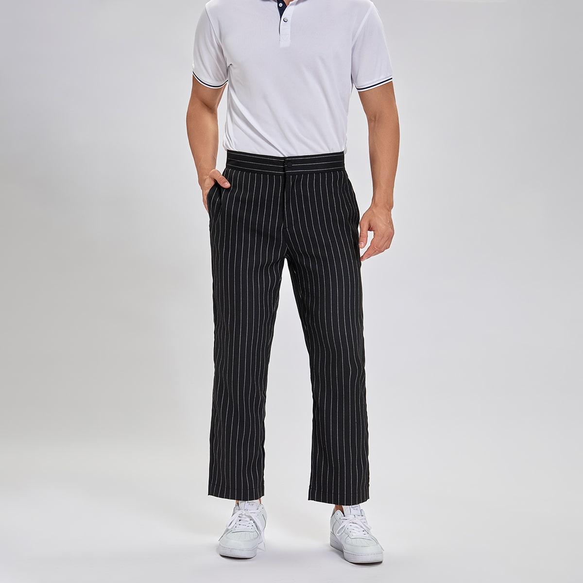 Карман Полосатый Работа Мужские брюки