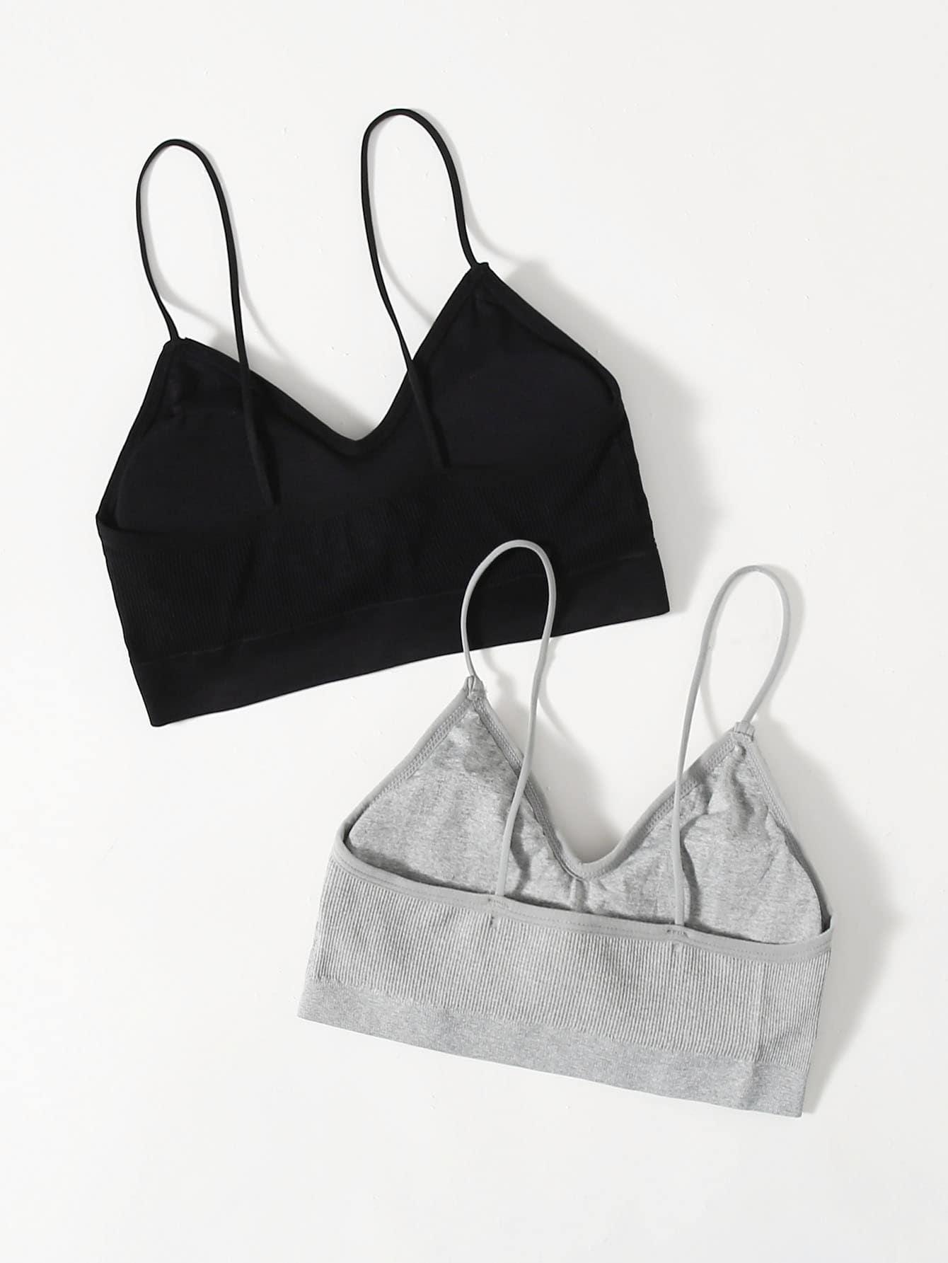 2pack Thin Strap Bra Set