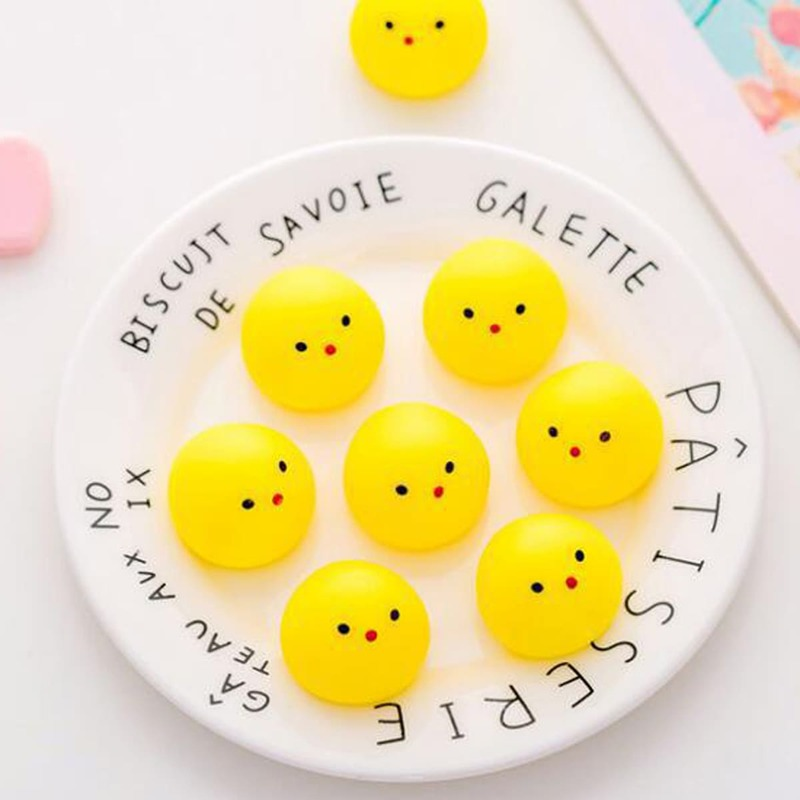 1pc Stress Relief Squeeze Yellow Duck, Multicolor