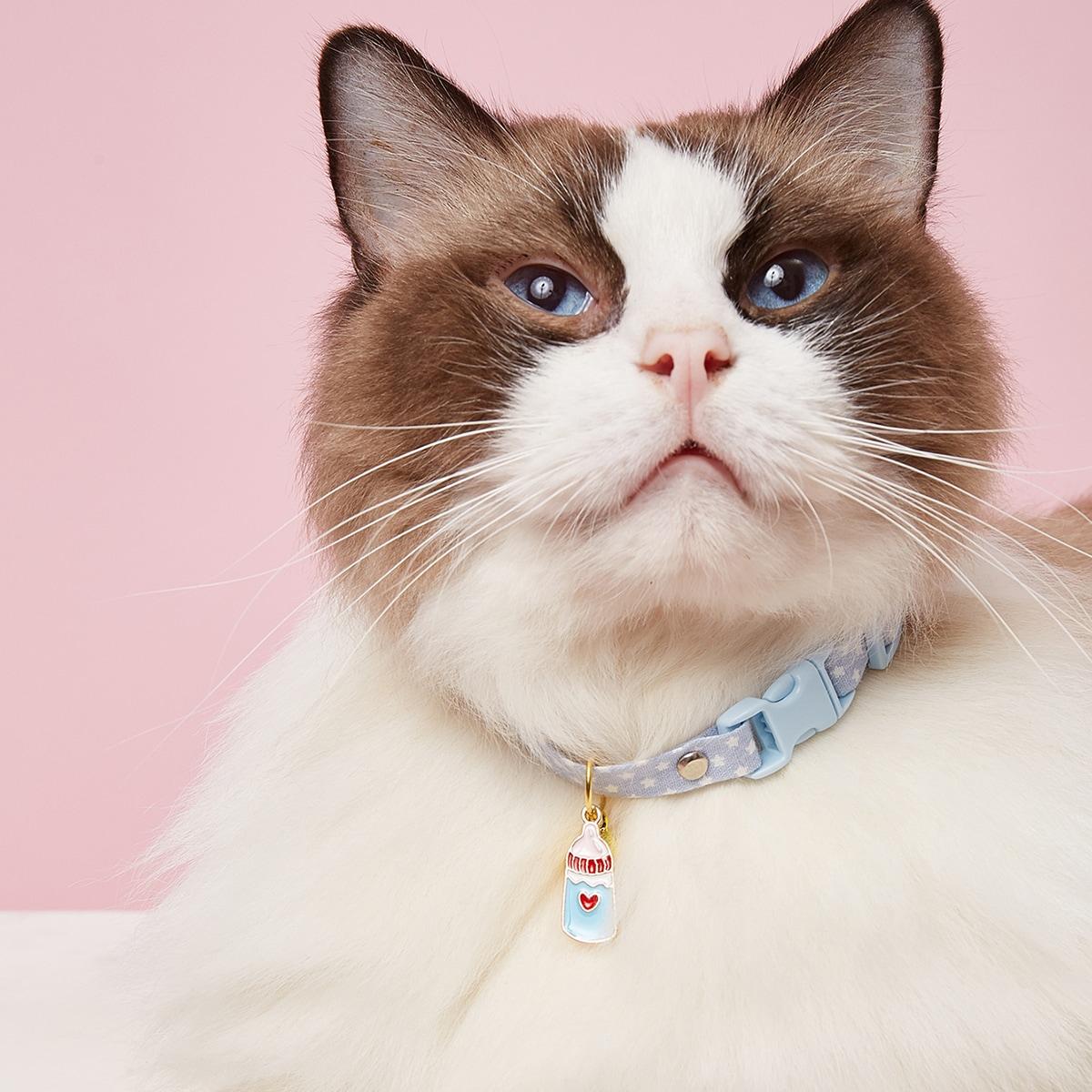 1 Stück Haustier Halskette mit Milchflasche Dekor