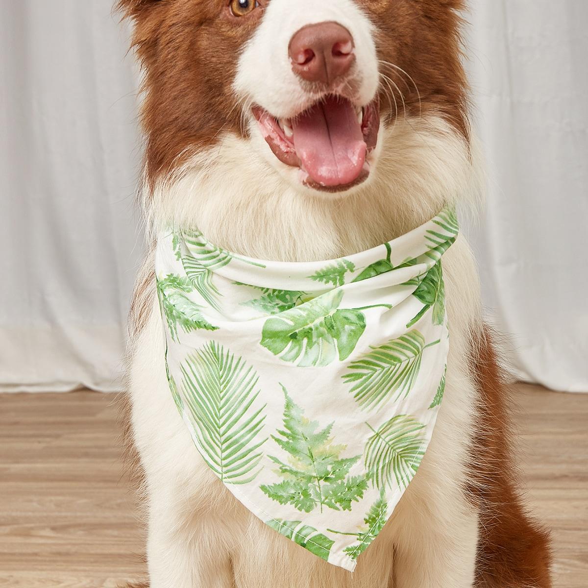 Bandana per animali domestici con stampa di foglie