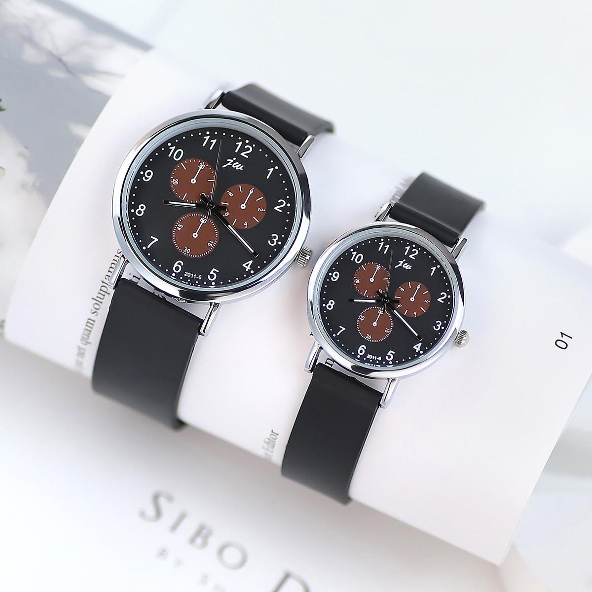 2 piezas reloj de cuarzo de puntera con tiras de gel de silicona