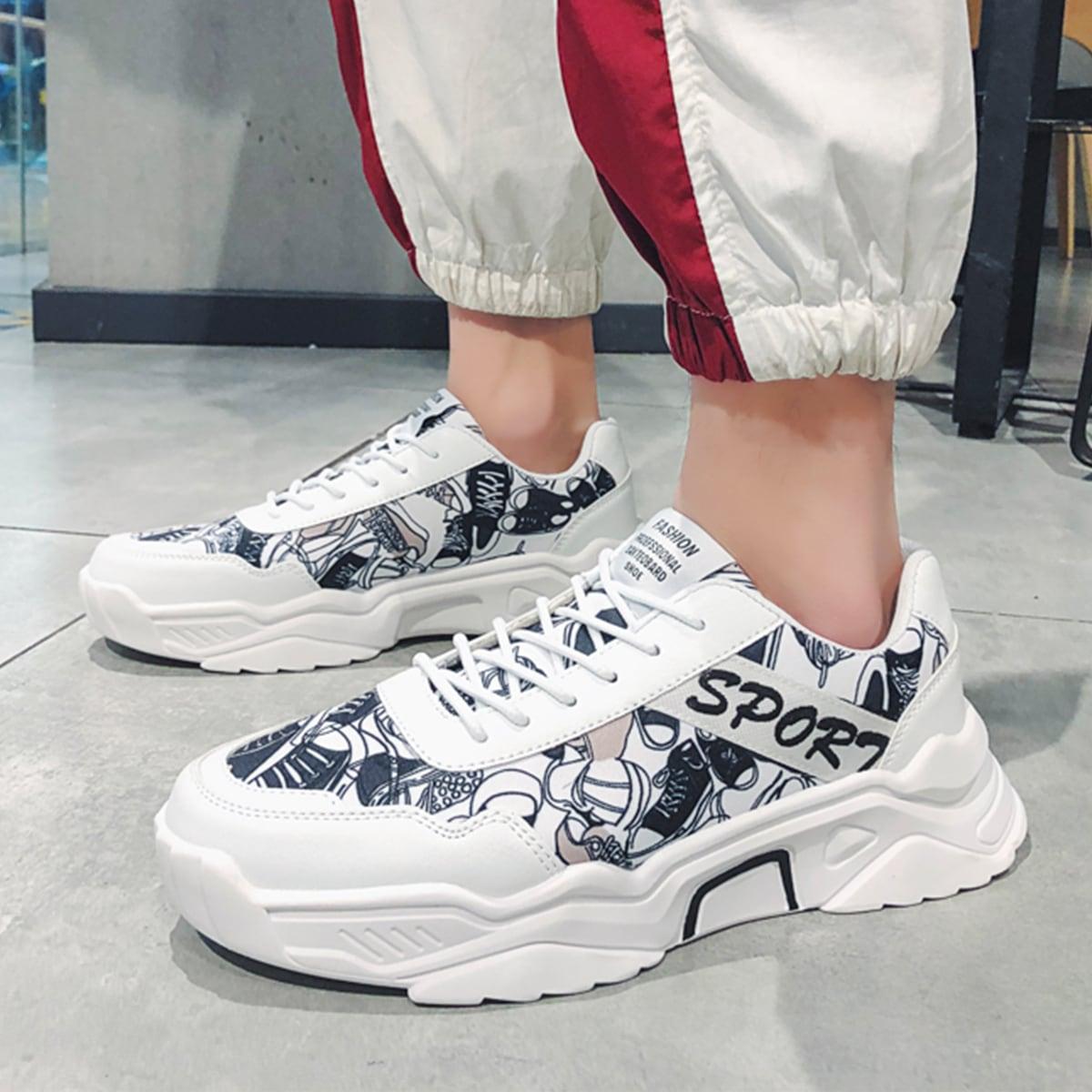 SHEIN Kant Spotprent Sneaker man