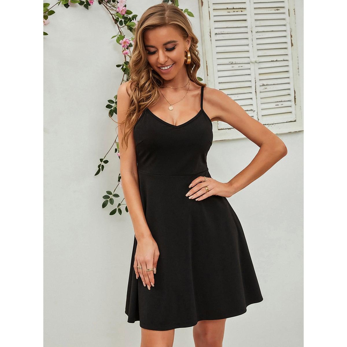 Платье на бретелях SheIn swdress23210105260