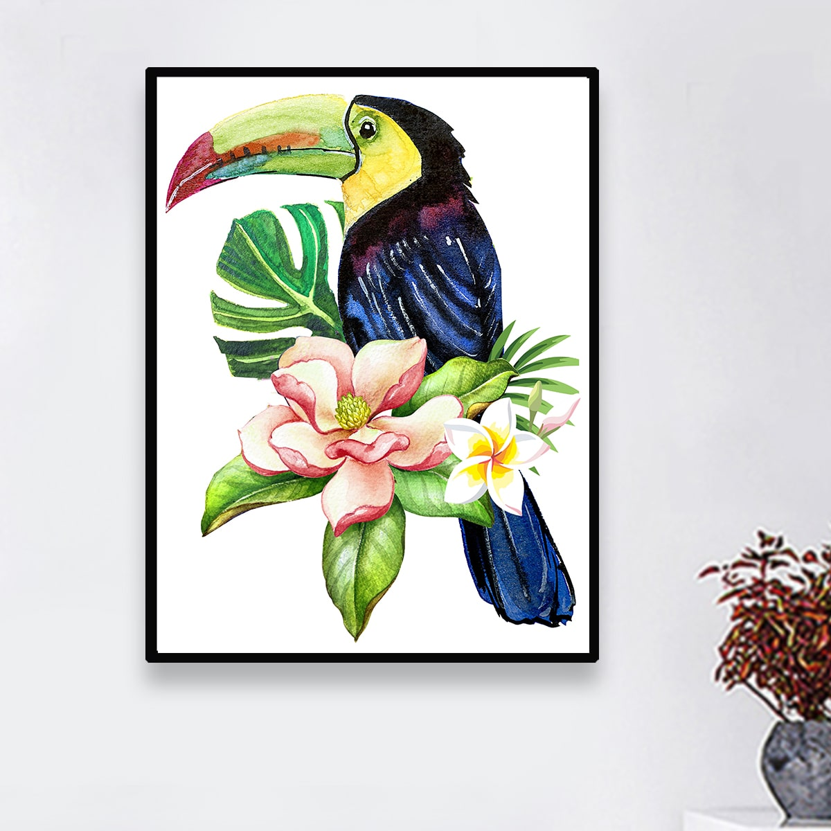 Diamantmalerei mit Papagei Muster ohne Rahmen