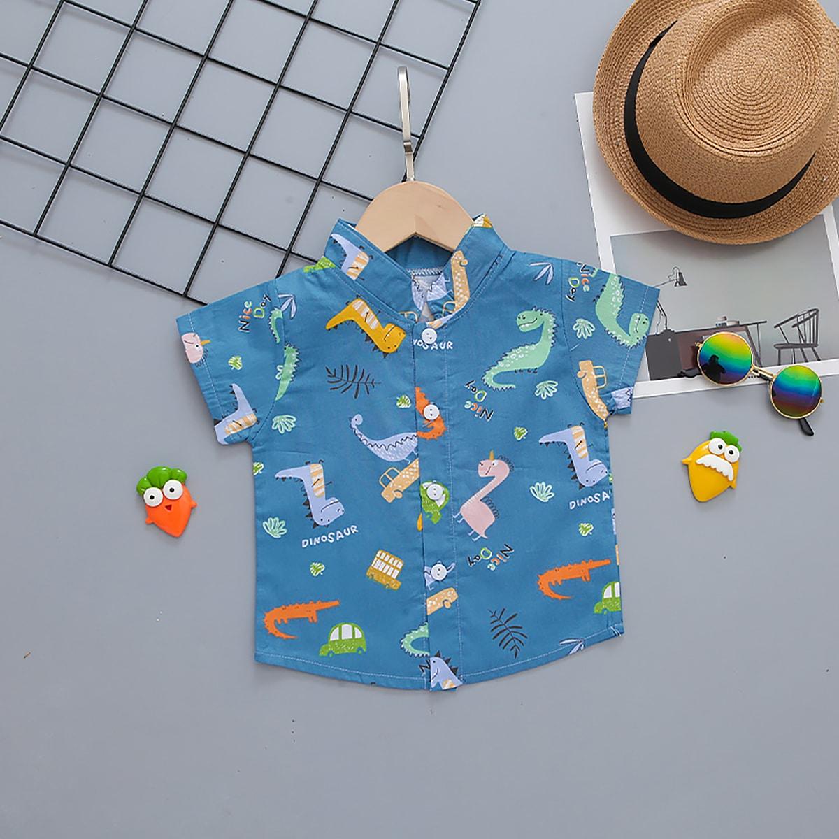 Рубашка с оригинальным рисунком для мальчиков
