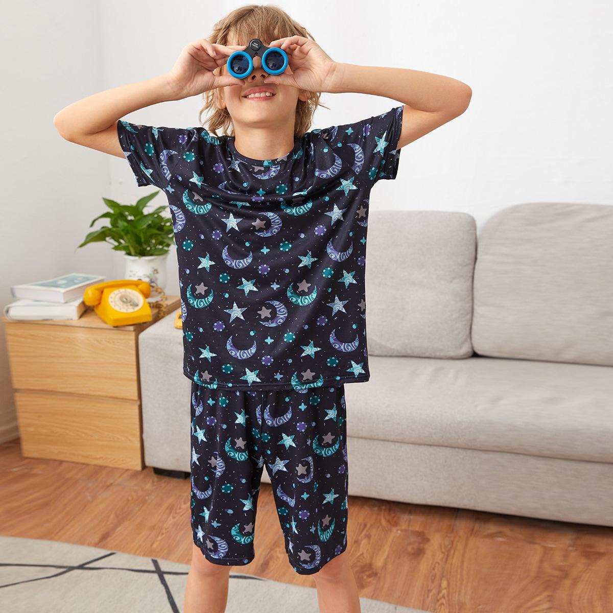 В горошек Повседневный Домашняя одежда для мальчиков