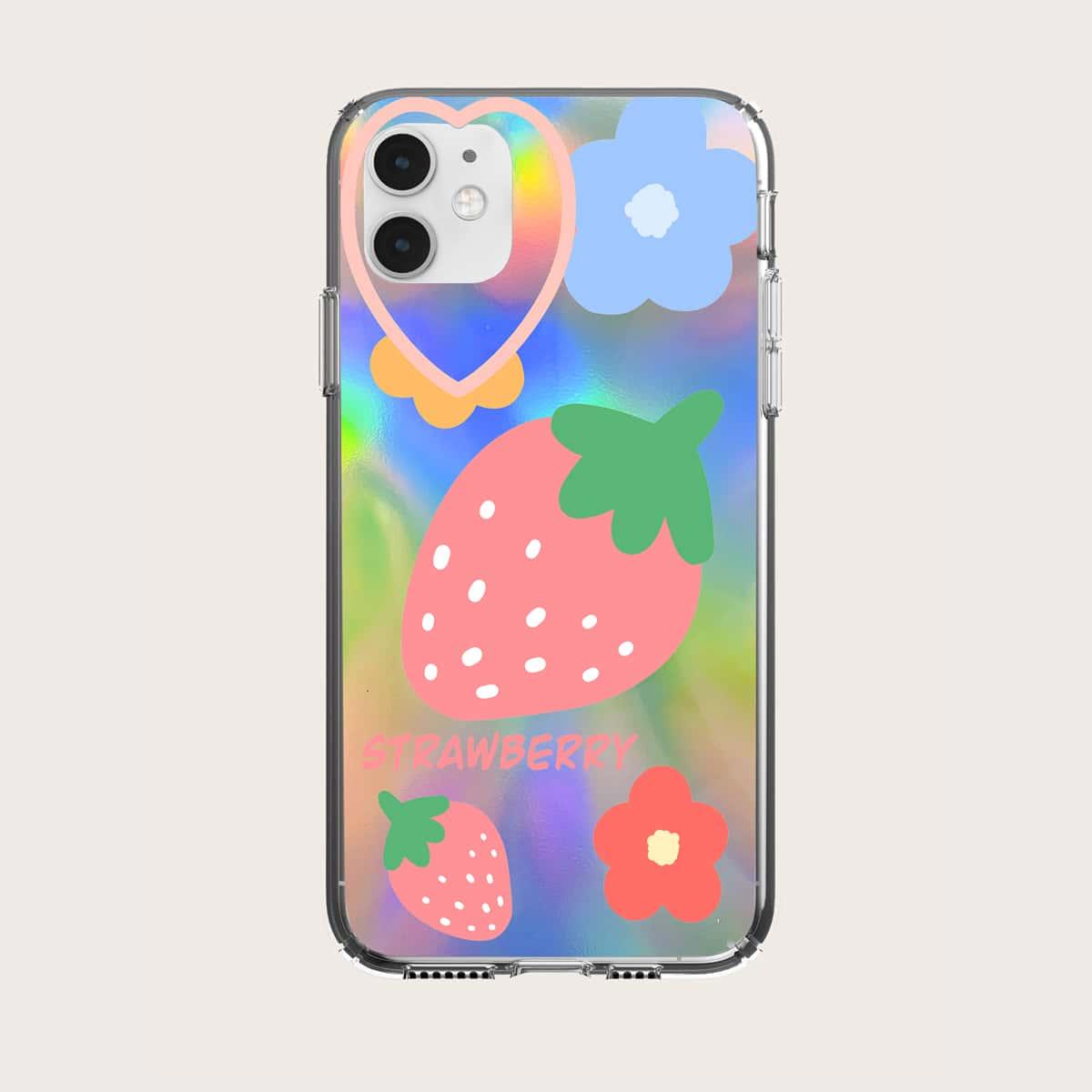 Coque de téléphone à imprimé fraise