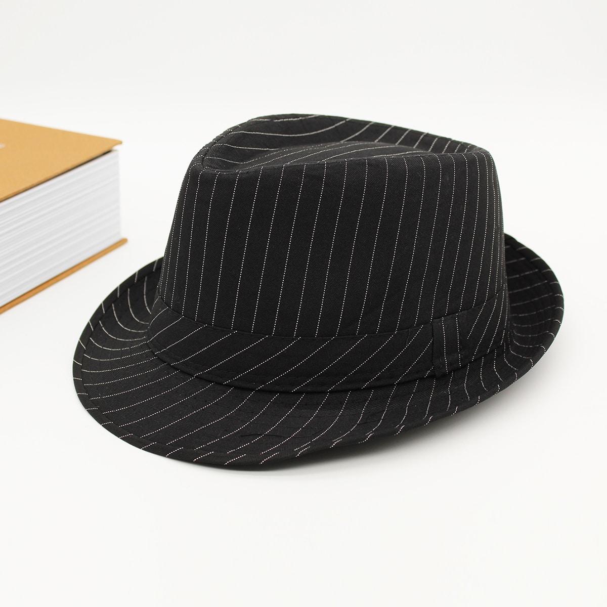 Männer Fedora Hut mit Streifen Muster