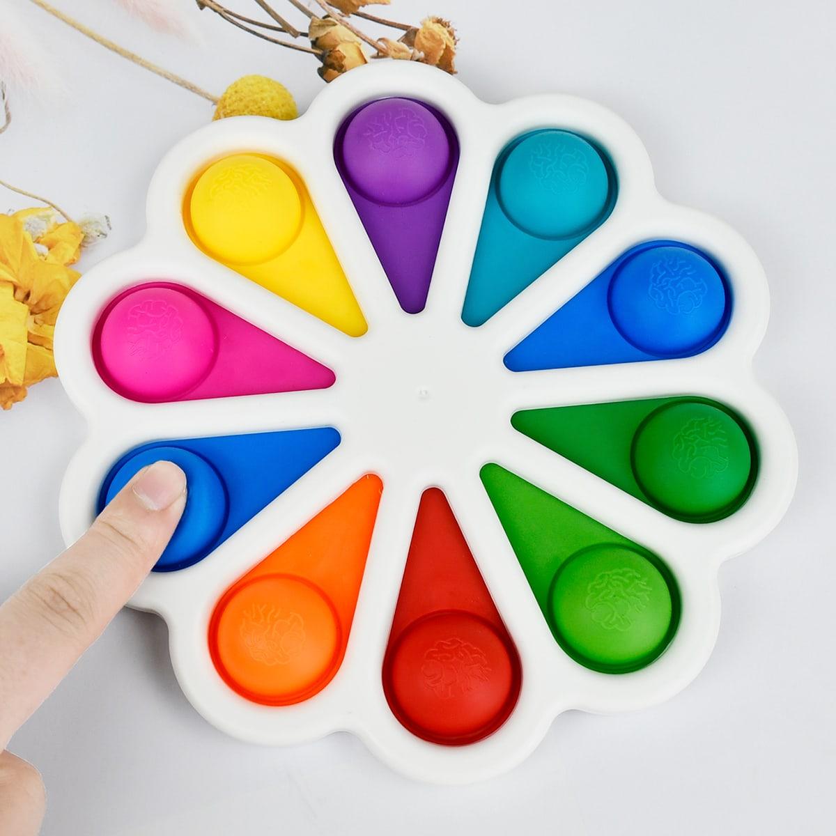1pc Random Color Flower Push Pop Bubble Toy