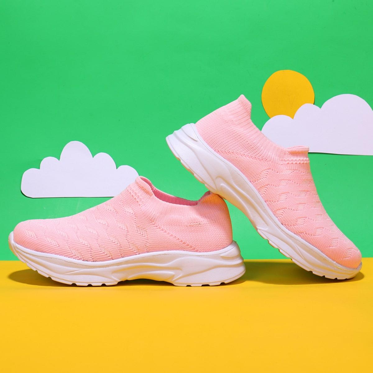 Вязанные кроссовки для девочек от SHEIN