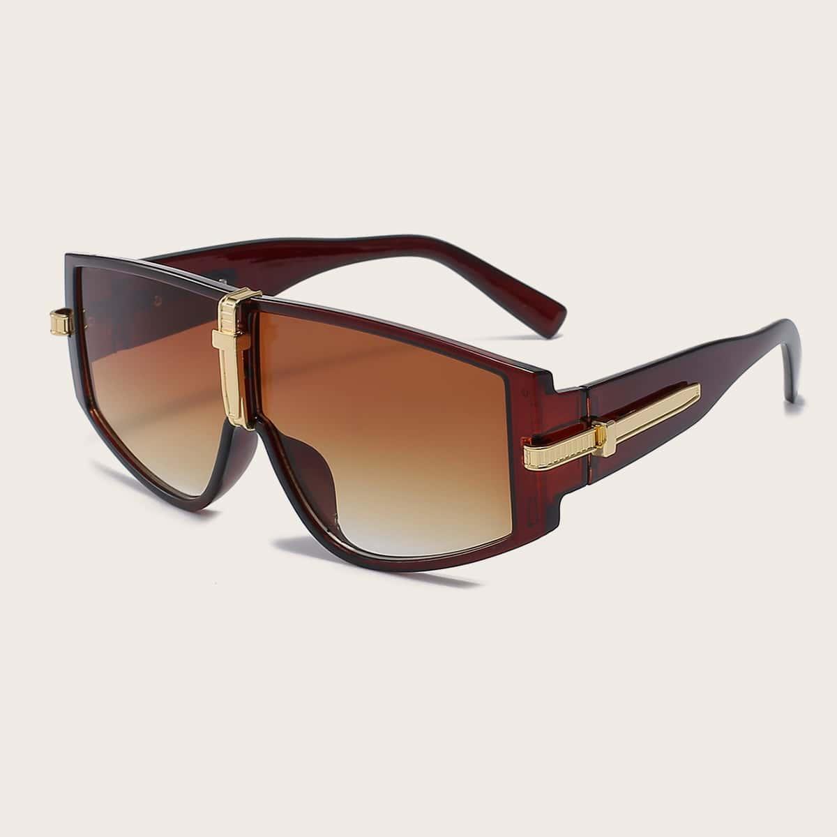 SHEIN Heren zonnebril met platte getinte glazen