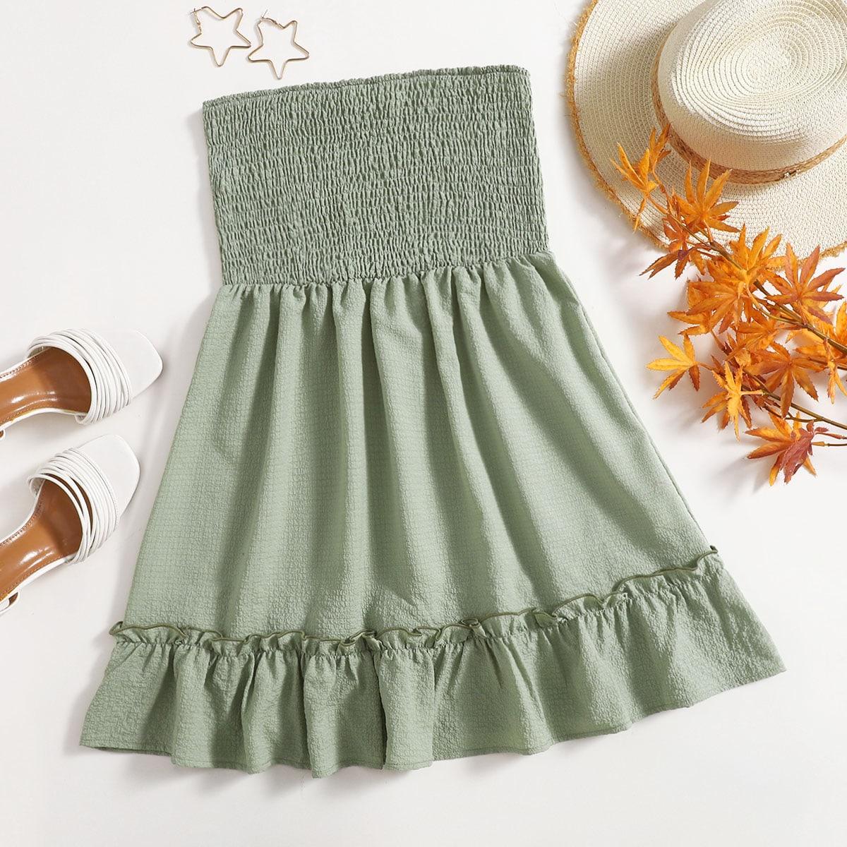 Платье-бандо SheIn swdress23210108047