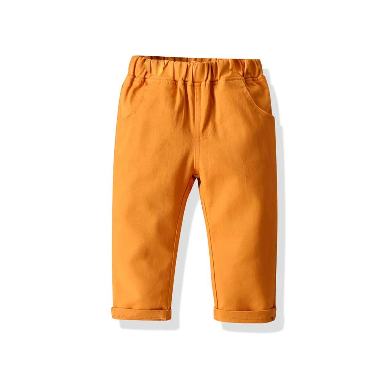 Toddler Boys Solid Slant Pocket Pants