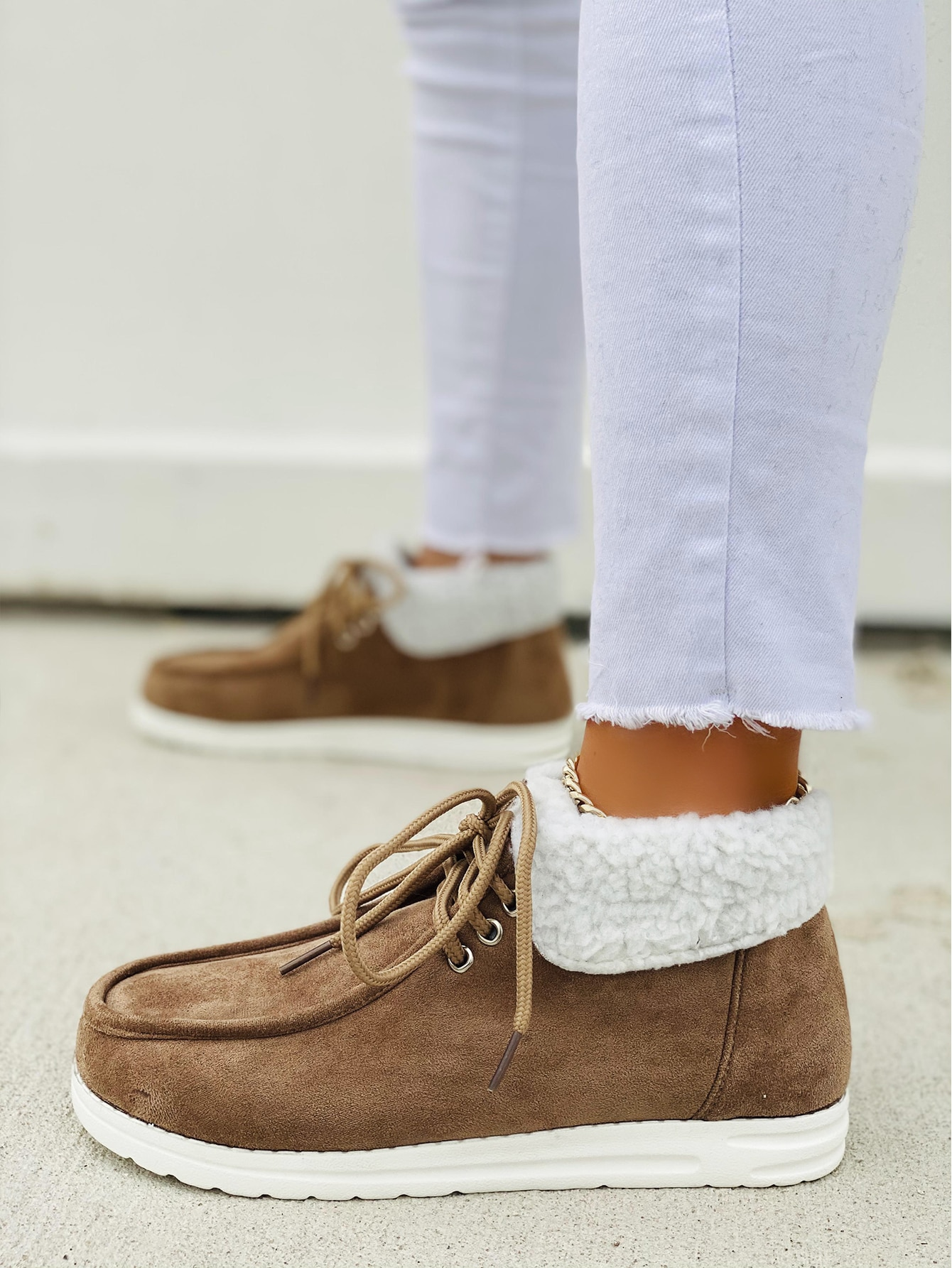 Lace Up Front Snow Boots