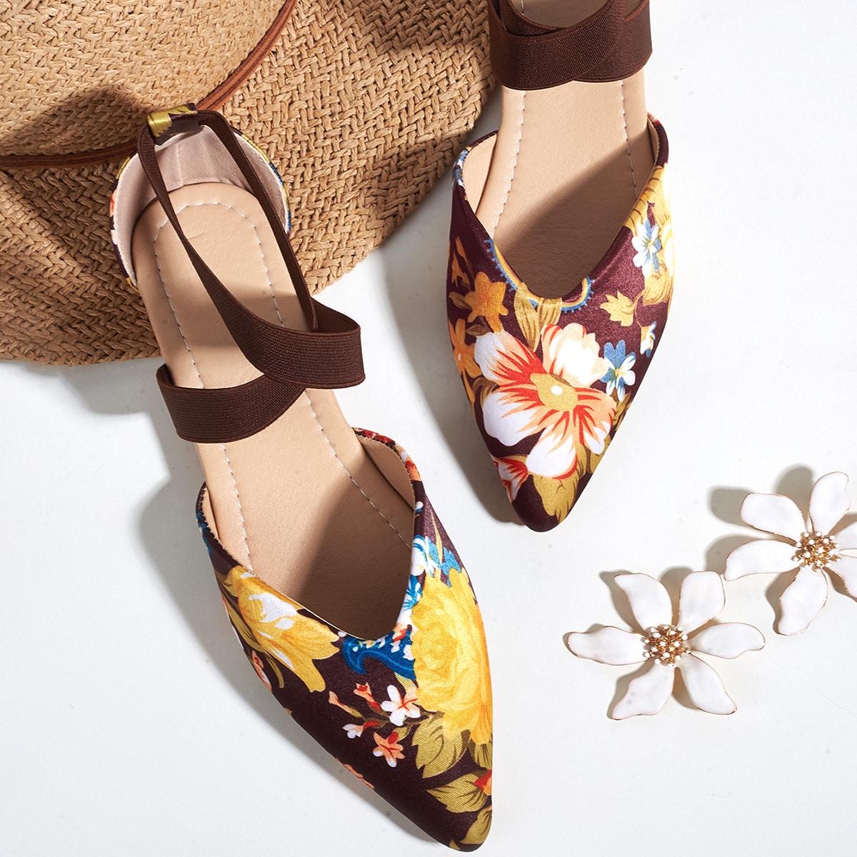 Zapatillas de ballet con estampado floral