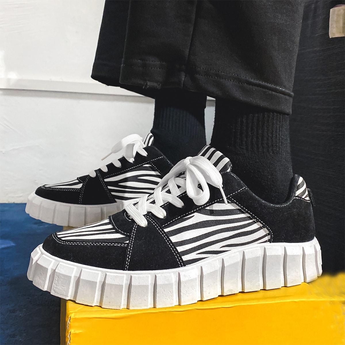 SHEIN Kant Gestreept Sneaker man