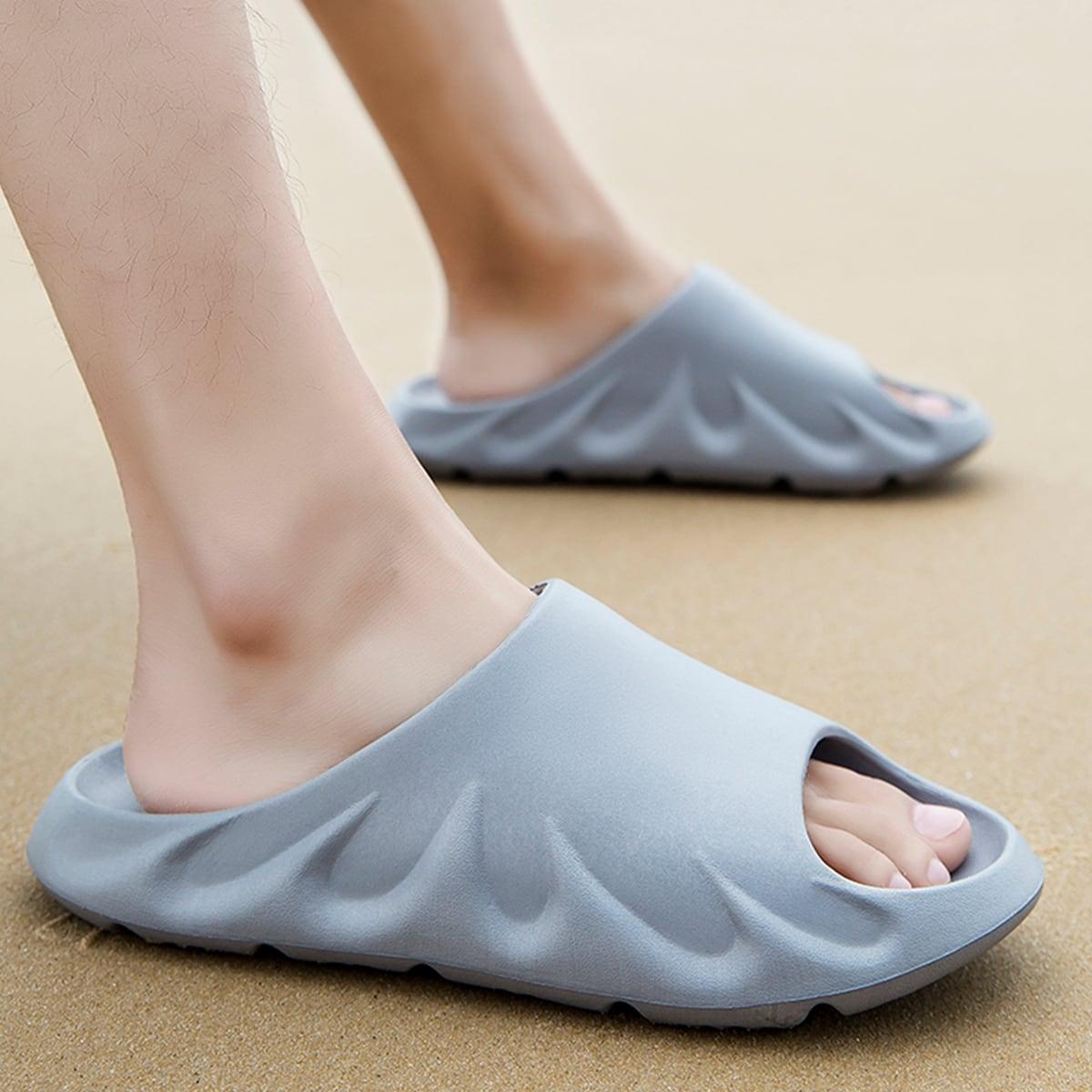 SHEIN Minimalistische pantoffels met open teen voor heren