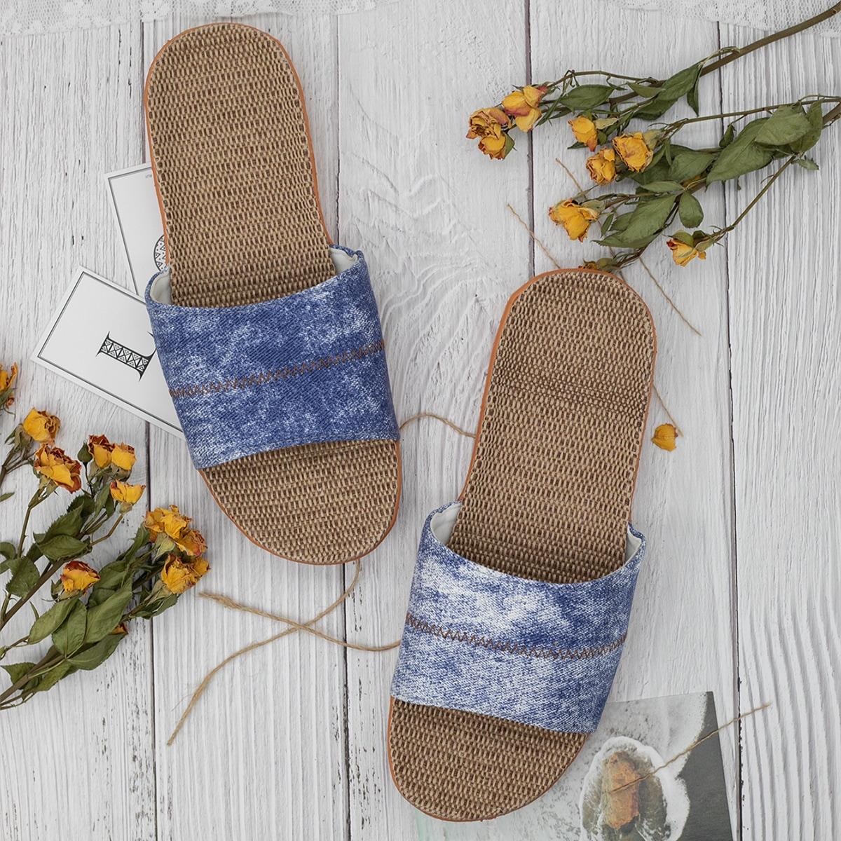 SHEIN Tie dye Heren slippers