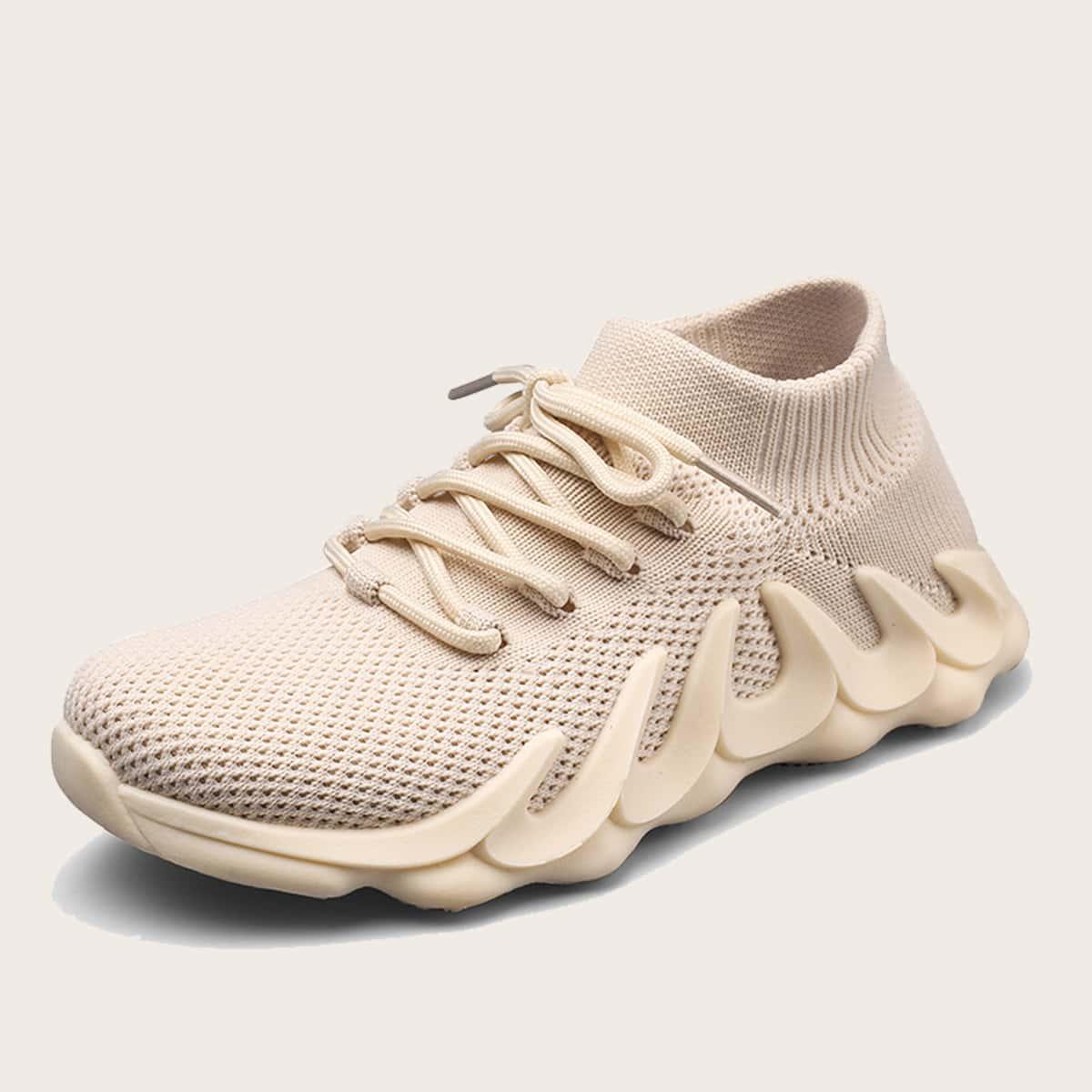 Вязаные кроссовки для мальчиков на шнурке от SHEIN