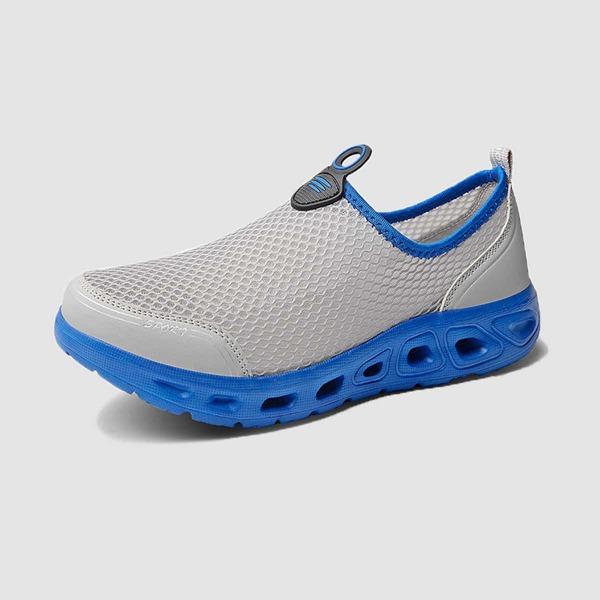 Men Contrast Binding Slip On Sneakers, Grey
