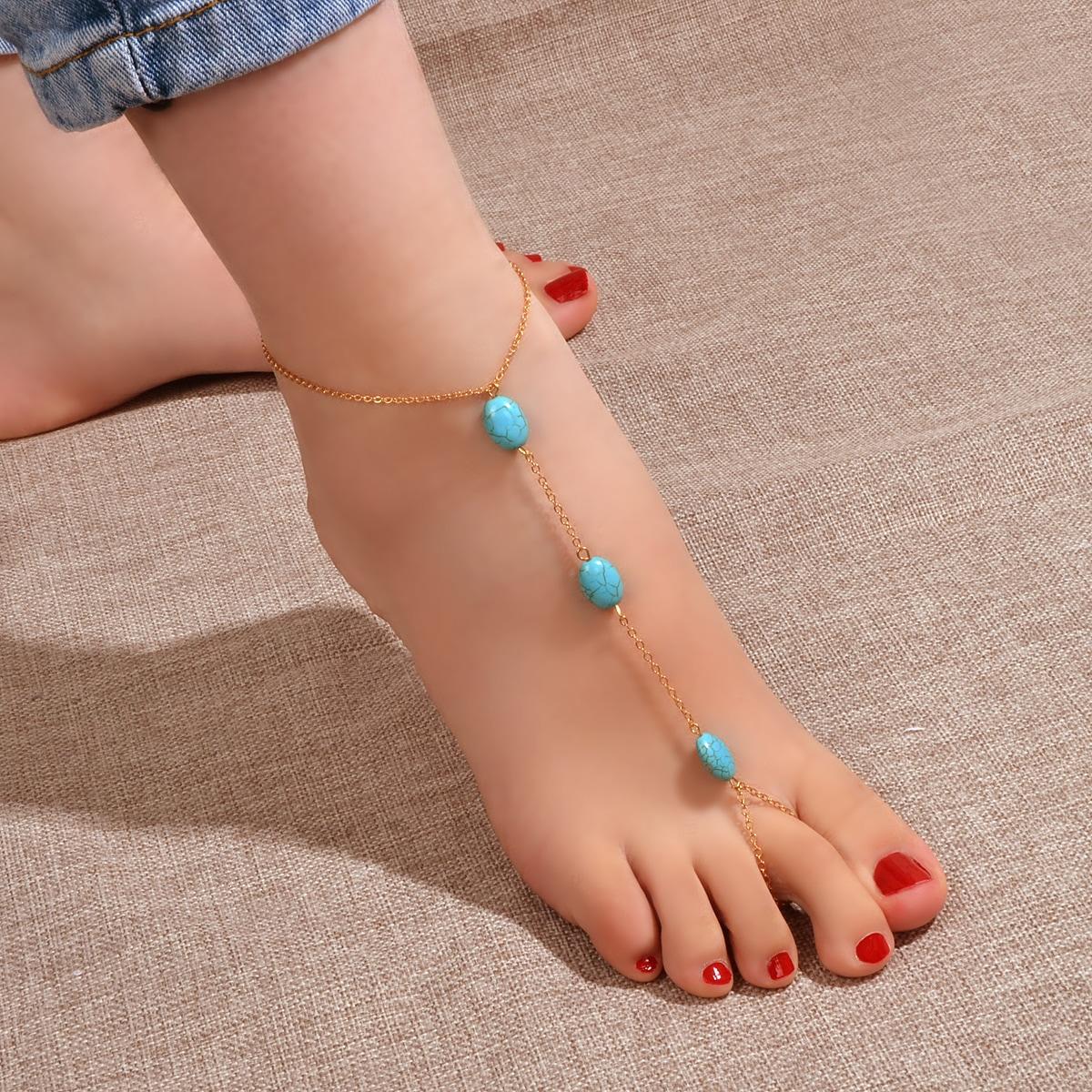 Ножной браслет камень варежки от SHEIN