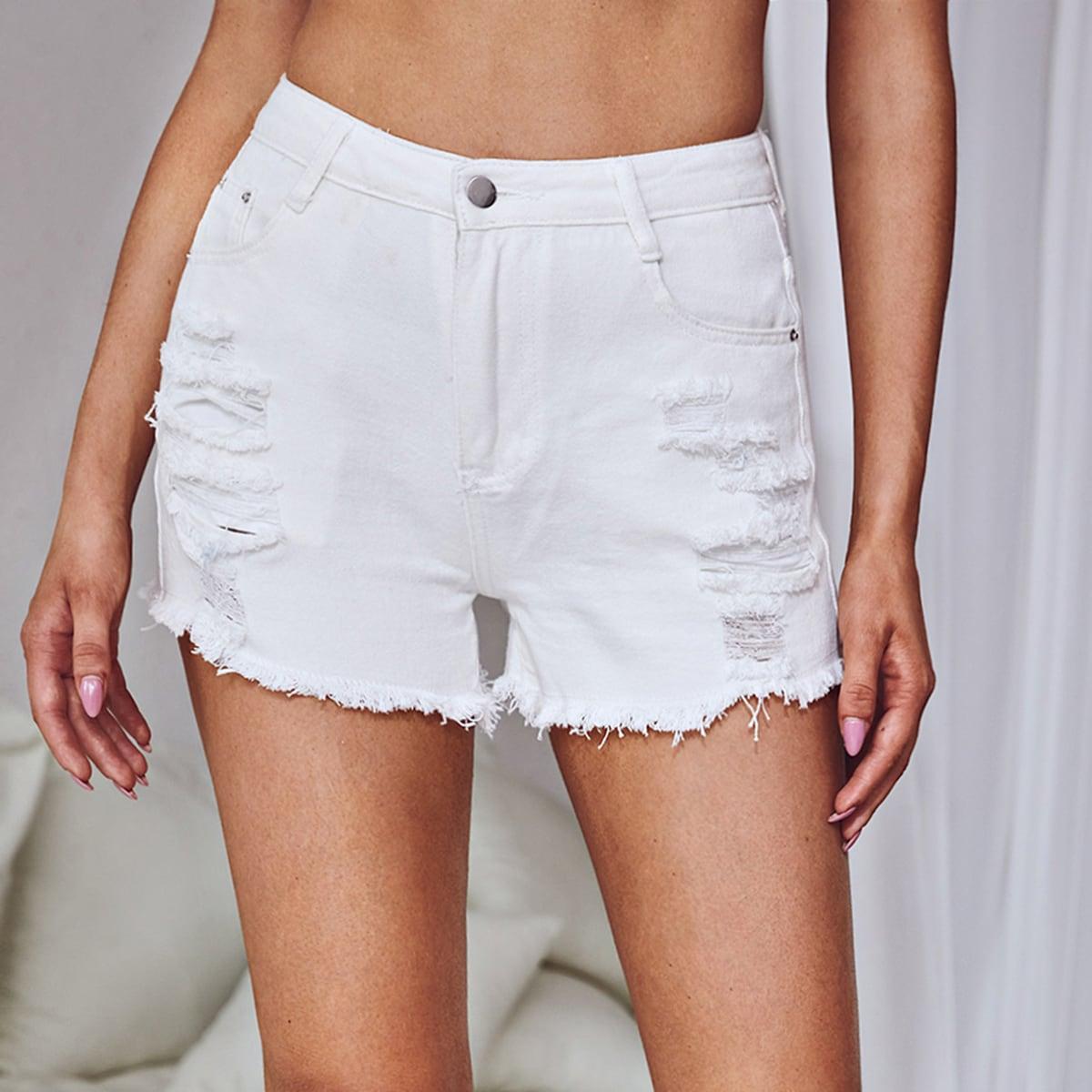 SHEIN Vlak Denim shorts Zak