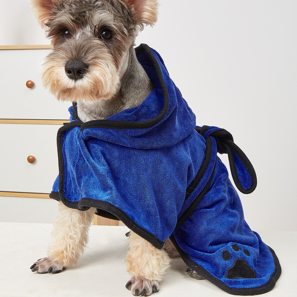 1pc Solid Color Pet Bathrobe