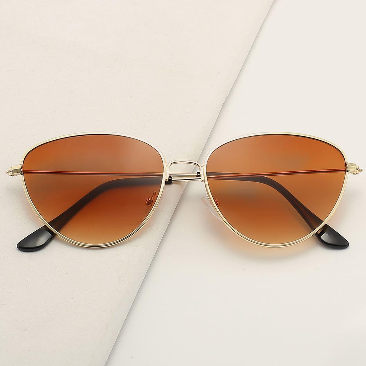 SHEIN Heren zonnebril met metalen montuur