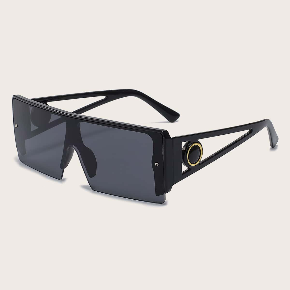 SHEIN Heren zonnebril met platte bovenkant