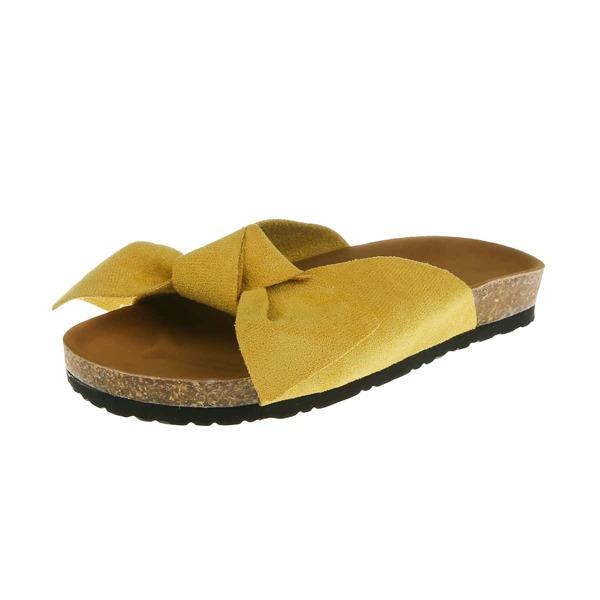 Bow Decor Footbed Sandals, Ginger