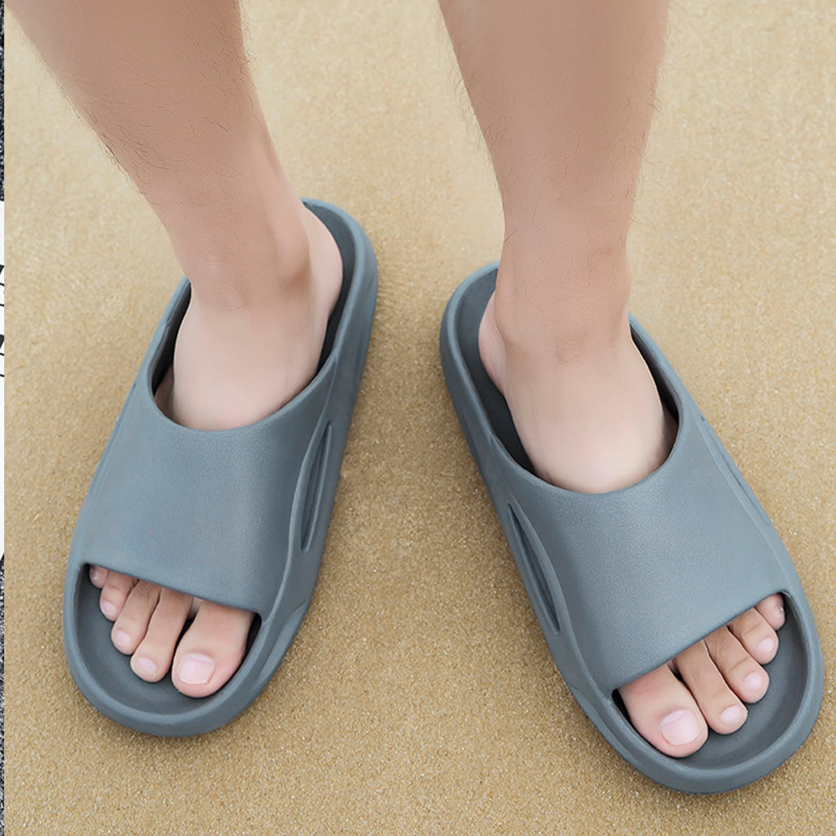 SHEIN Vlak Heren slippers Hol