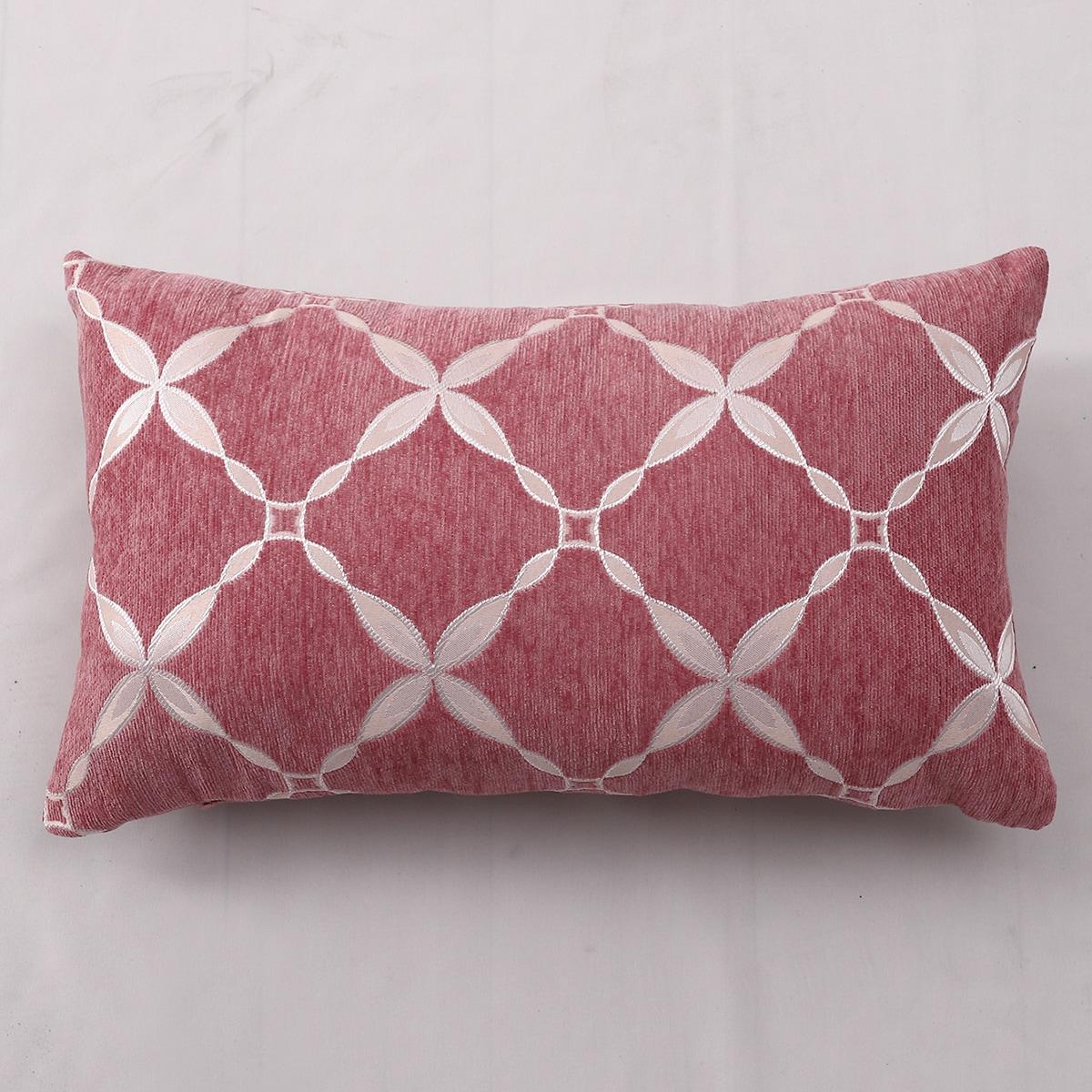 Plaid Pattern Lumbar Pillowcase Without Filler