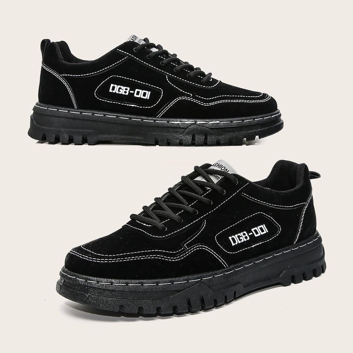SHEIN Kant Tekst Gekleede schoenen