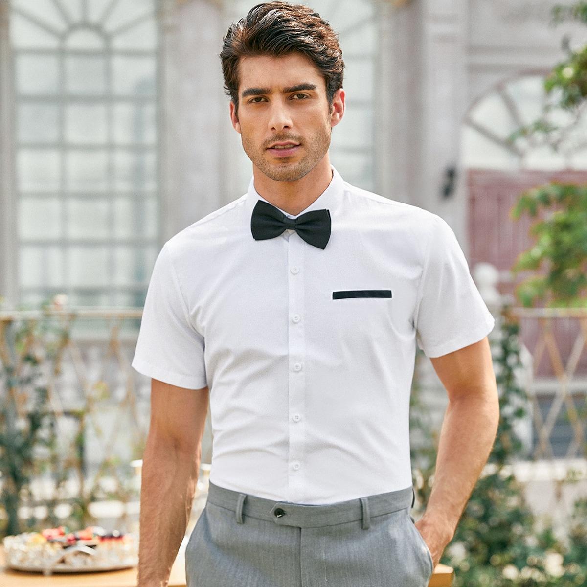 Пуговица Работа Мужские рубашки