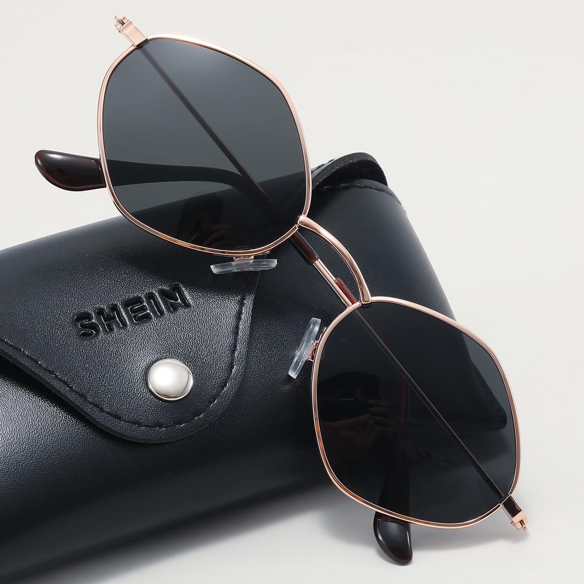SHEIN Gepolariseerde zonnebril met metalen montuur voor heren