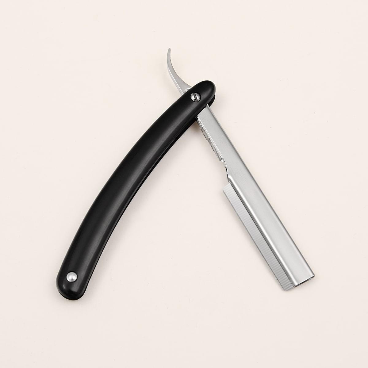 1 Stück Männer Edelstahl Rasiermesser & 9 Stücke Klinge