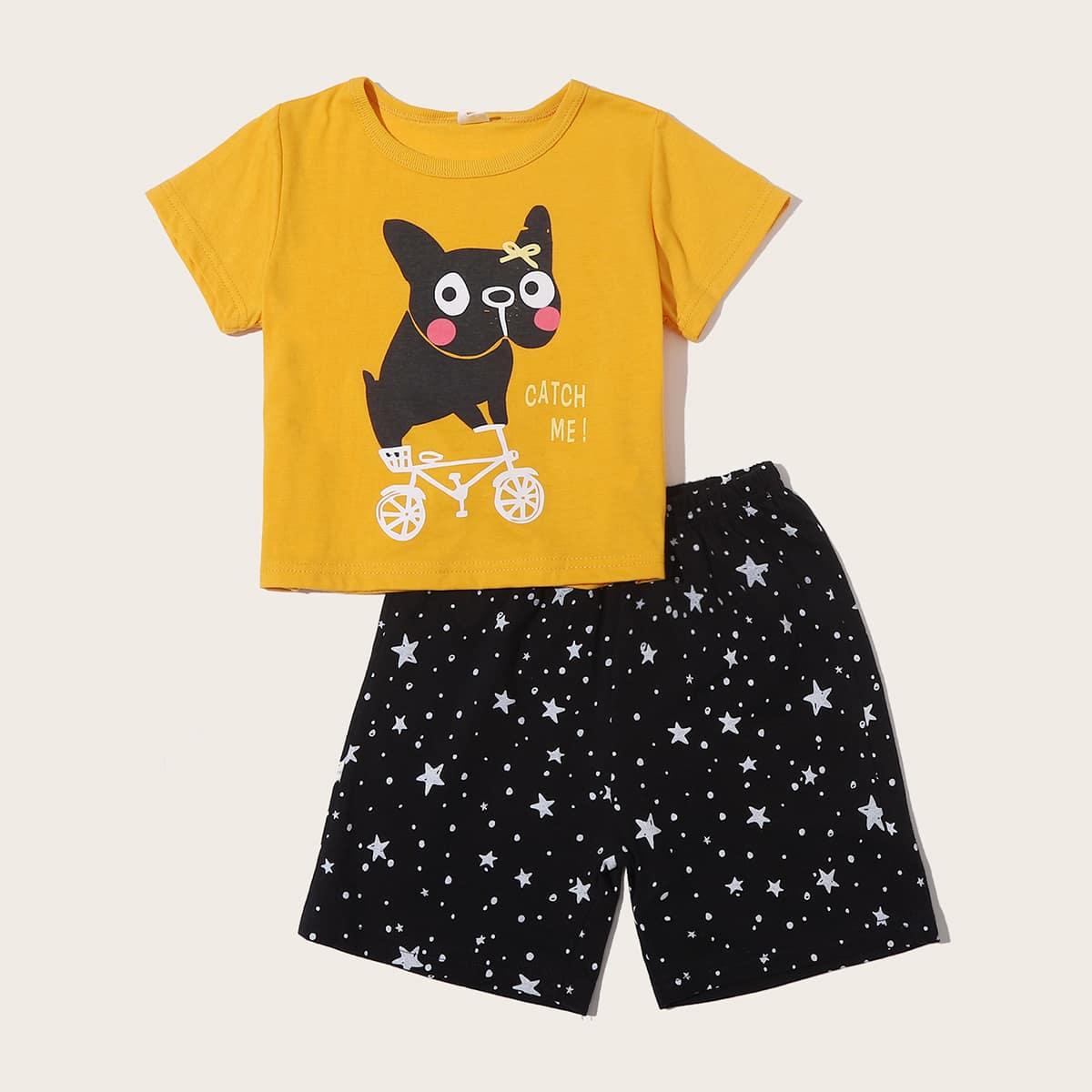 Геометрический принт Повседневный Домашняя одежда для мальчиков