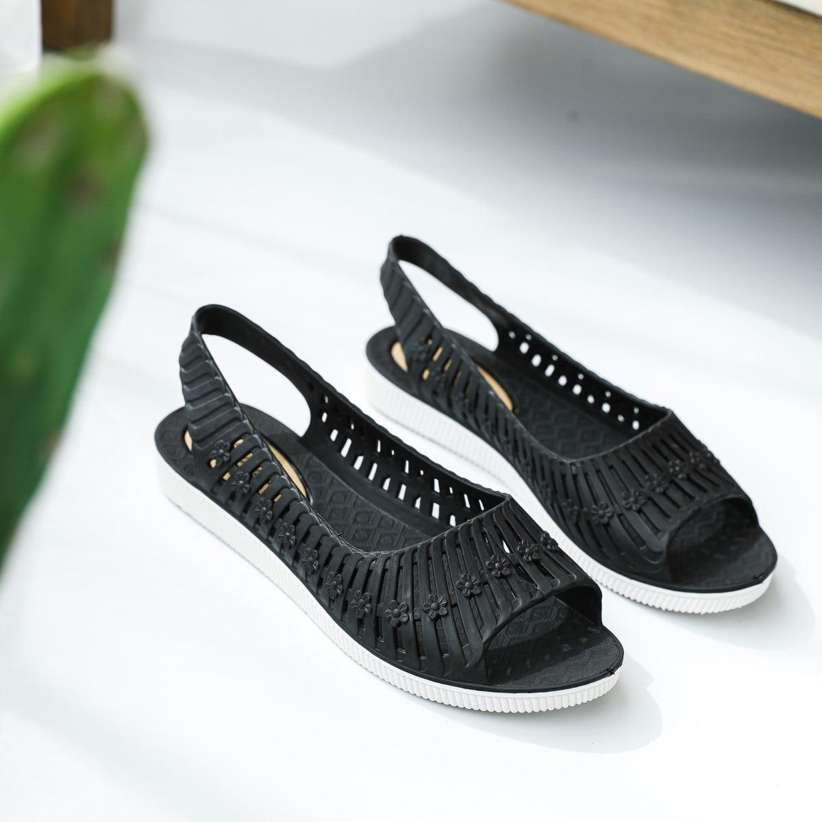 SHEIN / Open Toe Flat Slingback Sandals